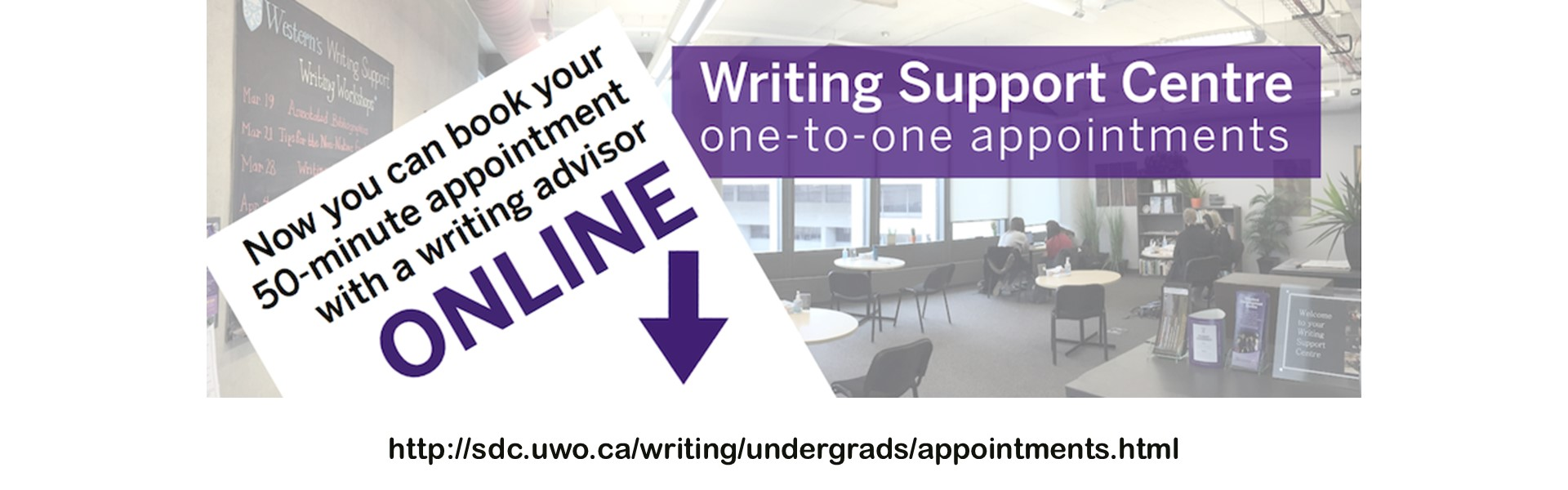 Now you can book your 50-minute appointment with a writing advisor online