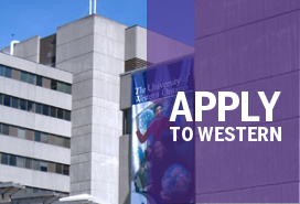 Apply to Western (Social Science building in background)