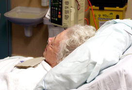 elderly hospital patient