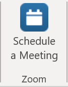 Zoom Schedule a Meeting button