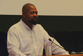 O'Neil Blacket speaking at Western