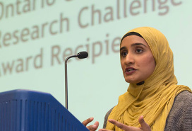 Awish Aslam, winner of 2017 Ontario Graduate Policy Research Challenge