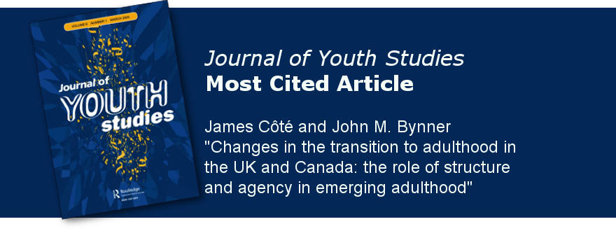 Cote & Brynner article is Journal of Youth Studies' most cited article