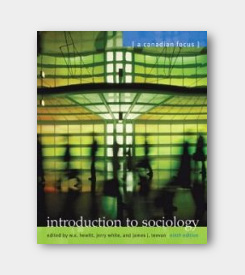Introduction to Sociology: A Canadian Focus 9th ed. -cover